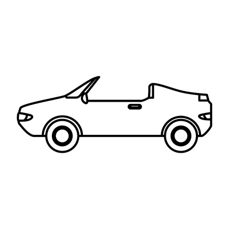 convertible car vehicle isolated icon vector illustration design Standard-Bild - 108255011