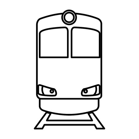 train transport isolated icon vector illustration design