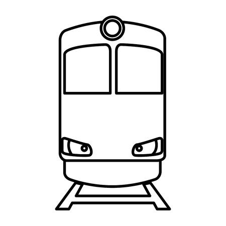 Transporte de tren icono aislado diseño ilustración vectorial