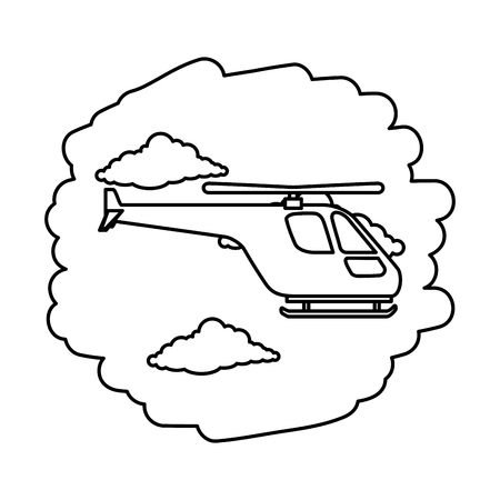 helicopter flying on the sky vector illustration design 일러스트