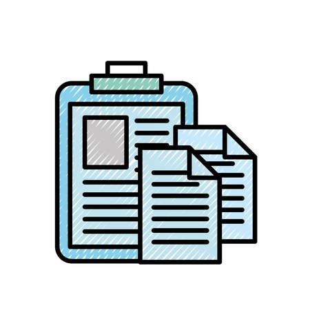 clipboard medical report document papers vector illustration