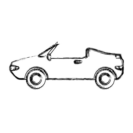 convertible car vehicle isolated icon vector illustration design Standard-Bild - 108258663
