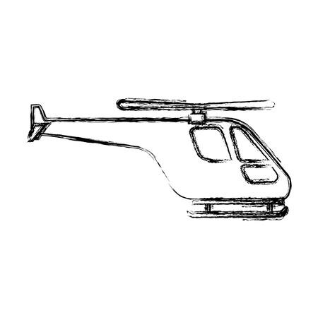 Hubschrauber fliegen isoliertes Symbol Vektor-Illustration Design