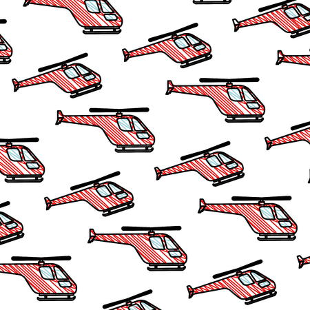 helicopters flying pattern background vector illustration design Ilustração