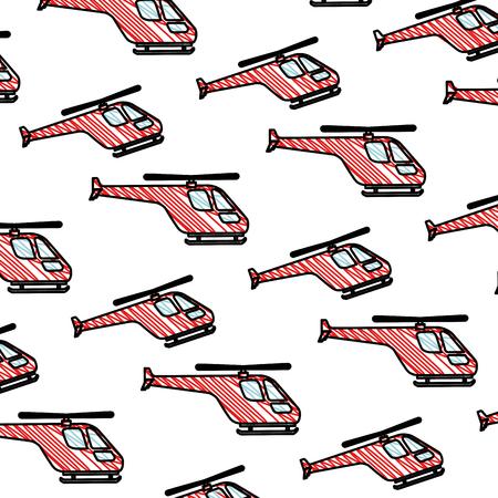 helicopters flying pattern background vector illustration design Illustration
