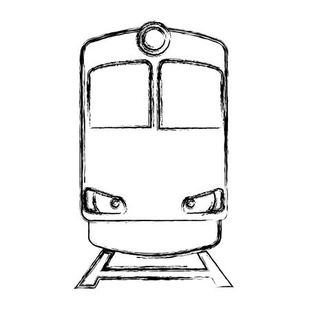 Treno trasporto icona isolato illustrazione vettoriale design