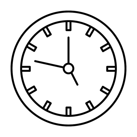 time clock isolated icon vector illustration design  イラスト・ベクター素材