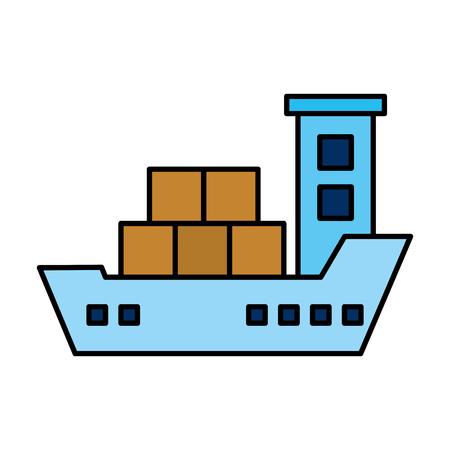 cargo ship isolated icon vector illustration design 向量圖像