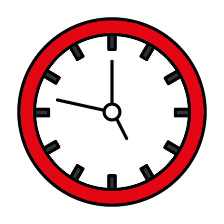 time clock isolated icon vector illustration design Illusztráció