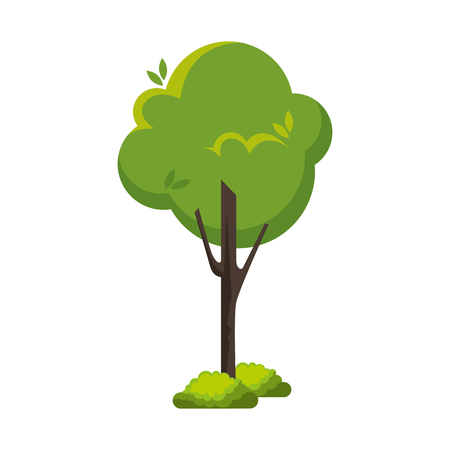 tree natural isolated icon vector illustration design Illustration