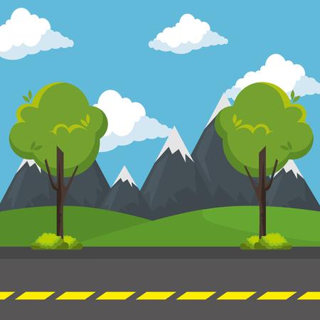 urban road day scenery icon vector illustration design Reklamní fotografie - 109992167