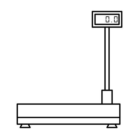 logistic balance measure weight vector illustration design