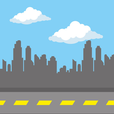 urban road day scenery icon vector illustration design