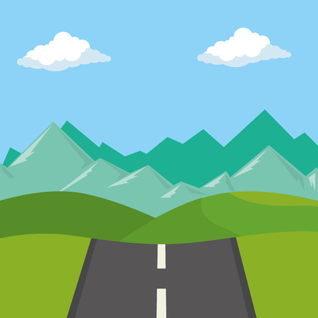 urban road day scenery icon vector illustration design
