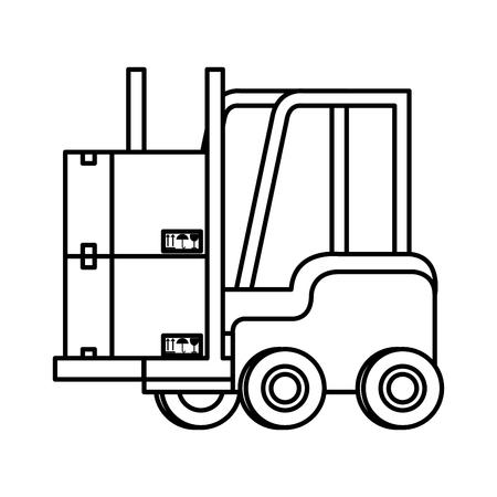 forklift vehicle isolated icon vector illustration design Foto de archivo - 109992236