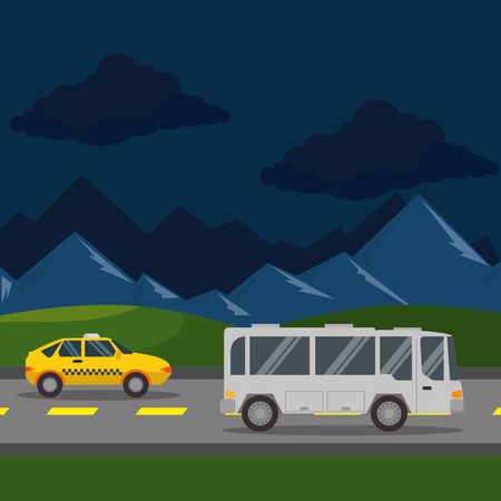 urban road scenery icon vector illustration design Illustration