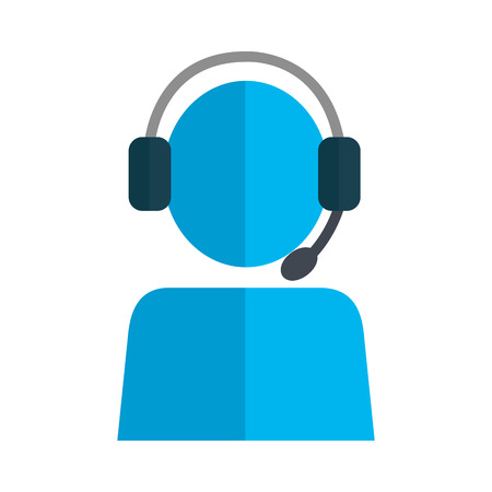 user avatar with headset vector illustration design
