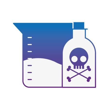 poison bottle test tube sample science vector illustration neon image