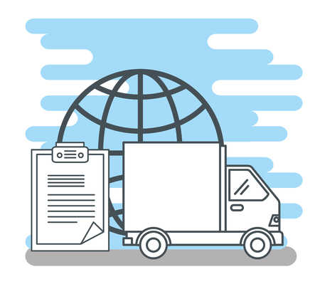 logistic services set icons vector illustration design Stock Vector - 109992384
