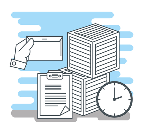logistic services set icons vector illustration design Vettoriali