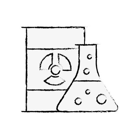 chemistry hazard test tube barrel radiation vector illustration hand drawing Stock fotó - 108266450