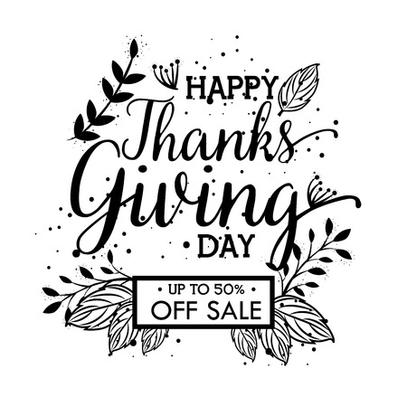 happy thanks giving day deals vector illustration design