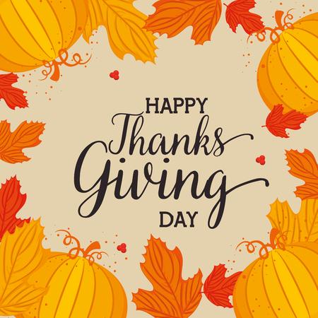 Feliz tarjeta de agradecimiento con decoración floral ilustración vectorial