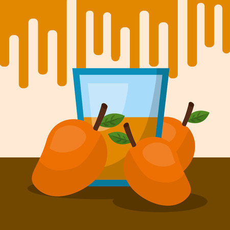 fruit fresh natural oranges juice vector illustration Иллюстрация