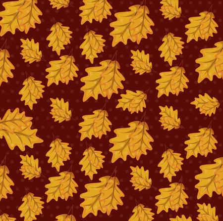 Diseño de ilustración de vector de fondo de patrón de hojas de otoño