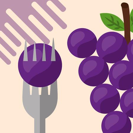 fruit fresh natural for holding grapes vector illustration Stock Illustratie