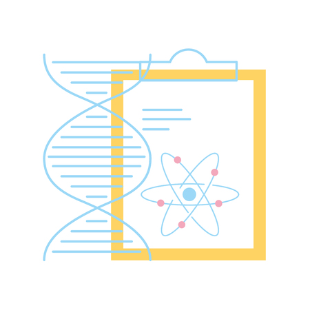 chemistry clipboard dna atom molecule structure vector illustration