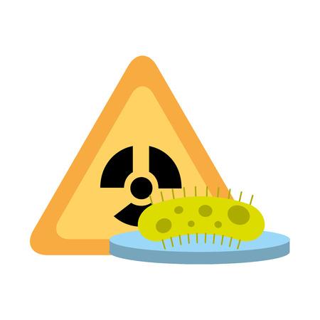 Bakterien Wissenschaft Gefahr Strahlung Gefahr Vektor-Illustration