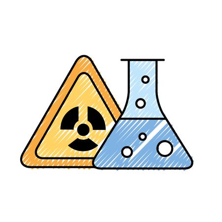 radiation hazard test tube chemistry vector illustration