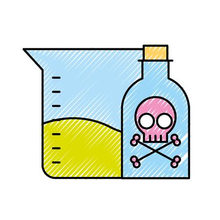 poison bottle test tube sample science vector illustration Stock Illustratie