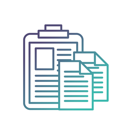 clipboard medical report document papers vector illustration neon