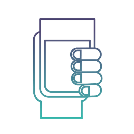hand holding water glass beverage vector illustration neon