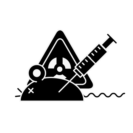 experiment rat laboratory syringe hazard danger vector illustration