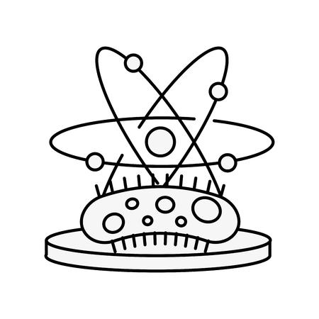 biology science virus molecule microbiology vector illustration thin line 版權商用圖片 - 109951115