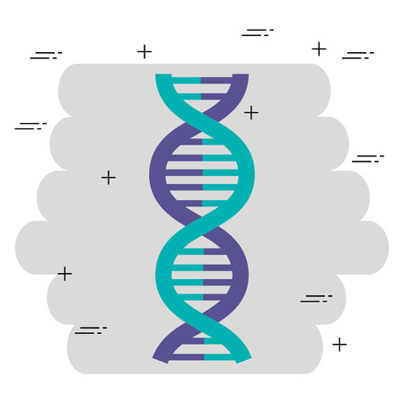 dna molecule structure icon vector illustration design