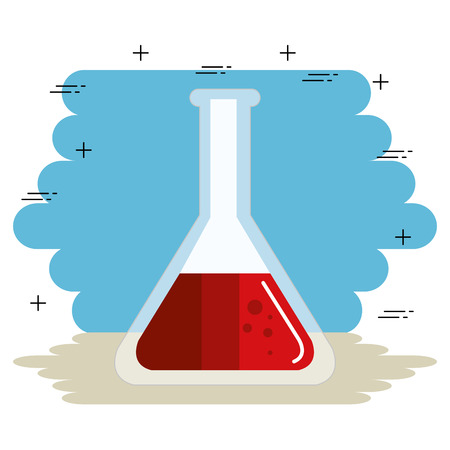 tube test with blood vector illustration design Illustration