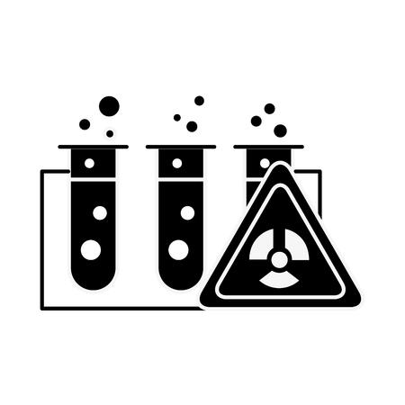 test tubes laboratory hazard analysis vector illustration Stock Illustratie