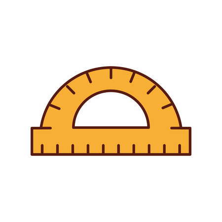 graphic design protractor angle measure tool vector illustration