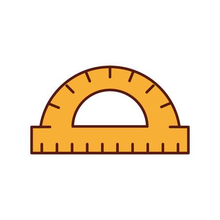 graphic design protractor angle measure tool vector illustration
