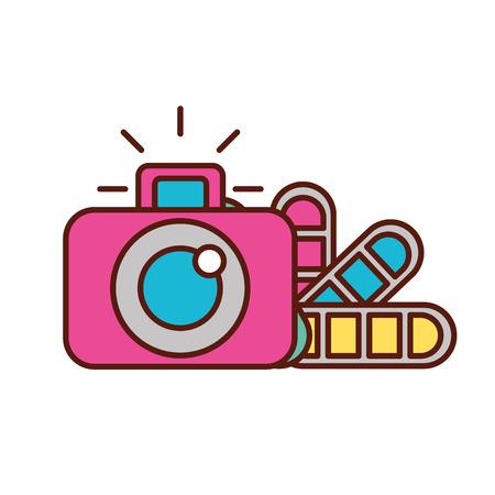 Ilustración de vector de tono de color de cámara fotográfica de diseño gráfico