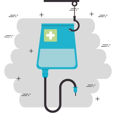 blood bag hanging medical icon vector illustration design