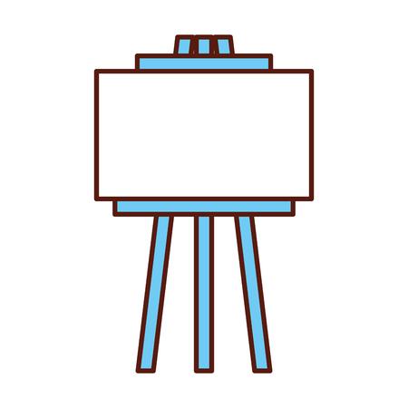 empty board tripod artistic tool vector illustration