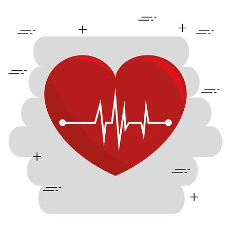 Cuore cardio icona medica illustrazione vettoriale design