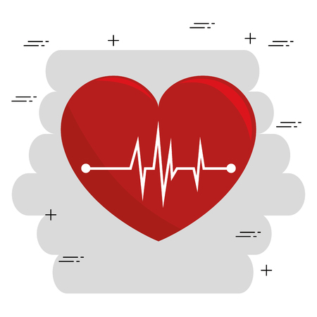 heart cardio medical icon vector illustration design