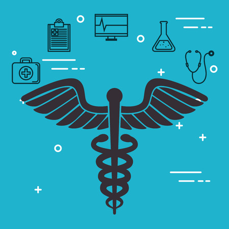 pharmacy symbol with medical healthcare icons vector illustration