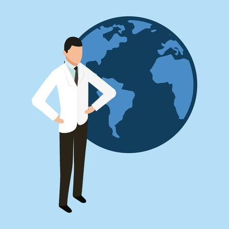health doctor world international help vector illustration Illustration